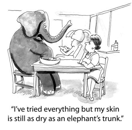 elephant cartoon Banco de Imagens - 12524027