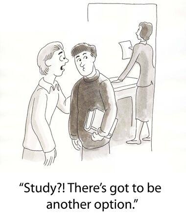 two students discuss their homework Stock fotó - 16859953
