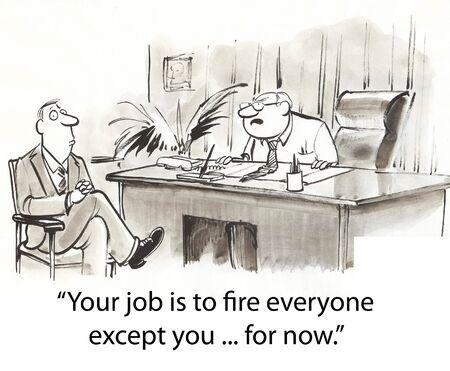 火災の他に心配して男を雇った 写真素材