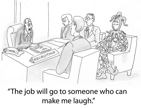 downsizing: job candidates include a jester