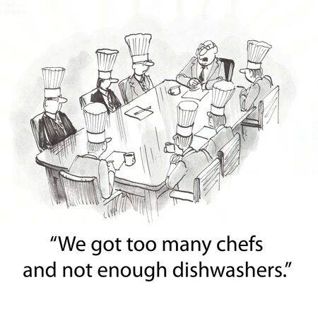 boardroom: boardroom of chefs with boss
