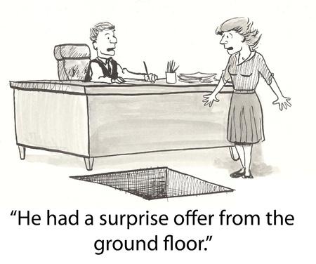evaluating: Trapdoor drops executive to new job