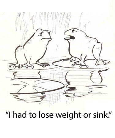 frog talking of weight loss Stock fotó