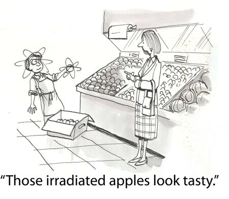 irradiated: fruit has been hit with radiation
