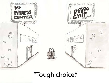 two men choose among fitness clubs