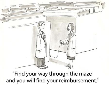 doctors must walk the maze Stock Photo