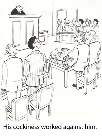 변호사는 재판을 위해 t-셔츠를 인쇄했다