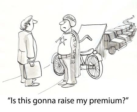 Draufgänger fragen Versicherung vor dem Sprung Standard-Bild - 16859959