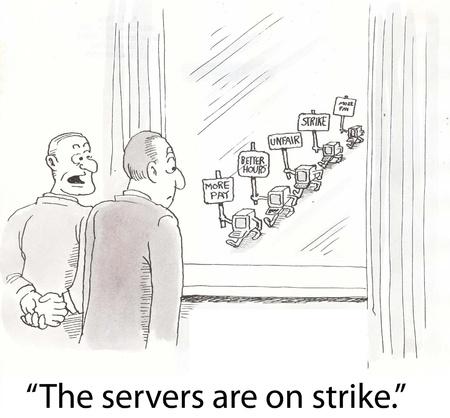 computer monitoren zijn in staking Stockfoto