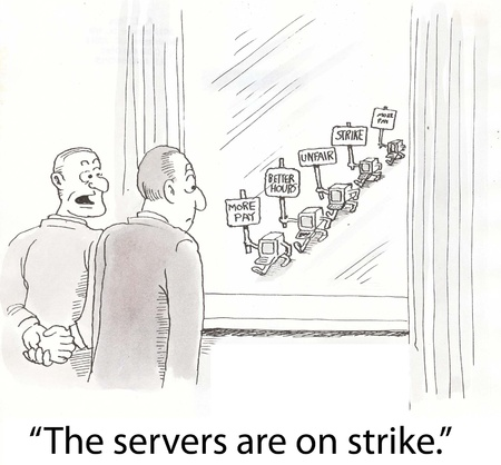 computer monitors are on strike
