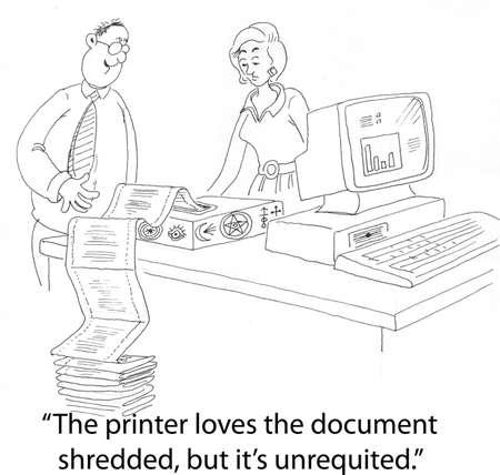 shredding: printer and shredder do not mix