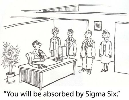 absorbed: zombies chanting about Sigma Six Stock Photo