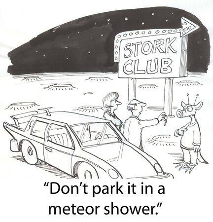 requesting: alien parking car on Mars