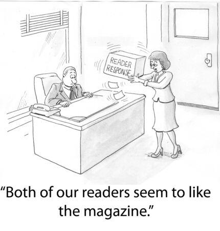 reader: female worker drops reader cards