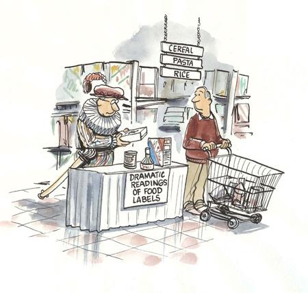 Lettura delle etichette in negozio Archivio Fotografico - 16889607