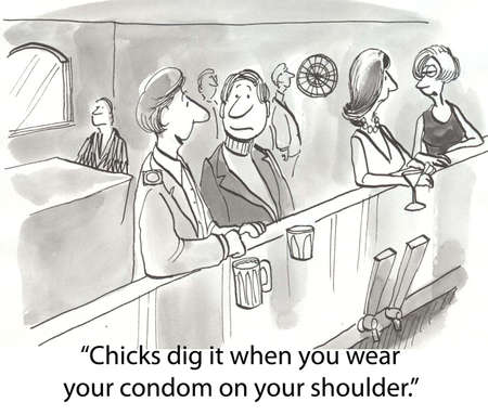 two men at singles bar