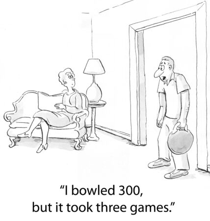 sympathetic: depressed bowler home from lanes