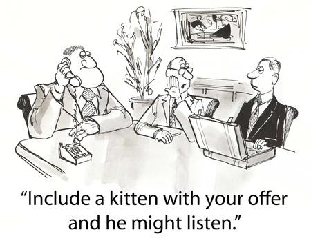 company secrets: lettore ad alta potenza vuole gattino