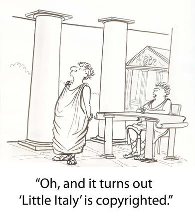 Romeinen hebben problemen op het auteursrecht Stockfoto