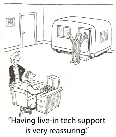dr: tech support lives in office