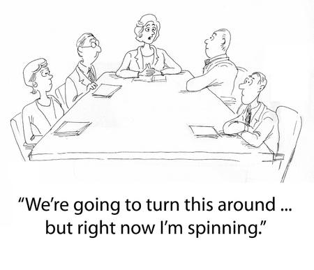 female boss: female boss leads a meeting Stock Photo