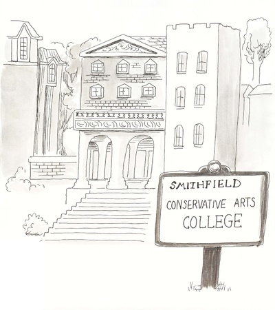 conservative: college with a conservative bent