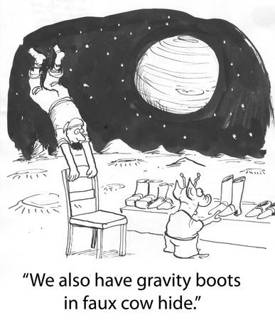 gravedad: hombre en Marte halla gravedad Foto de archivo
