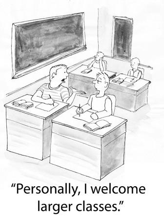 alumnos en clase: estudiante cansado de estar solo
