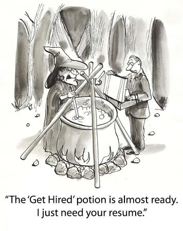 retained: bruja hace poción para la contratación de