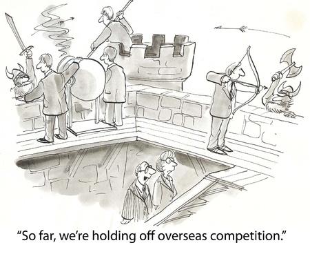 la competencia comercial es de vikingos