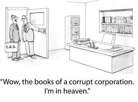 quarterly: Corrupt Company Stock Photo