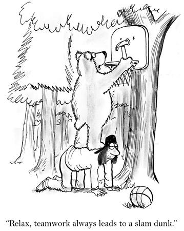 slam dunk: Hey teamwork cant always be a slam dunk.