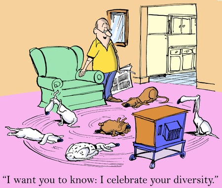 i want you: I want you to know I celebrate your diversity. Stock Photo