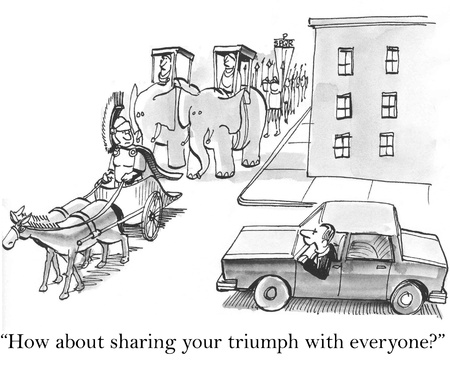 How about sharing your triumph with everyone?
