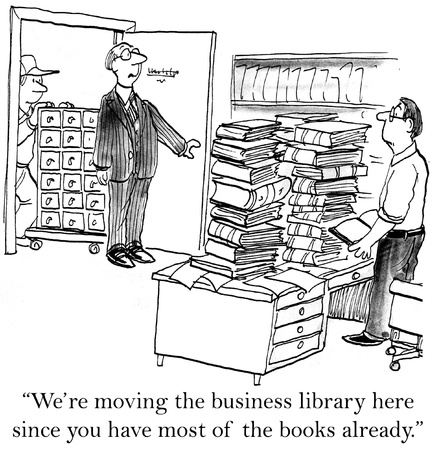 librarian: We are moving the business library here.