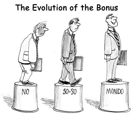 The Evolution of the Bonus on pedestals. Archivio Fotografico