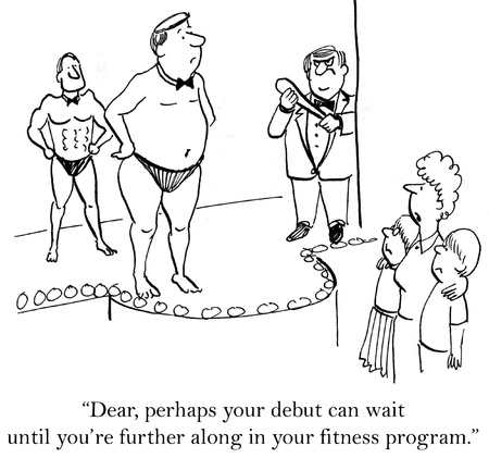 marriage cartoon: Perhaps your debut can wait until youre further along.