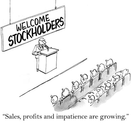 nasdaq: Sales, profits and impatience are growing for stockholders.