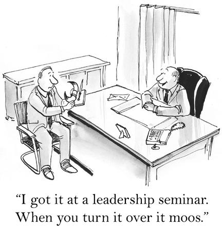 convention: I got it at a leadership seminar. Stock Photo