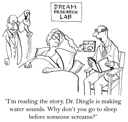 clinical laboratory: I read you a story, now go to sleep. Stock Photo