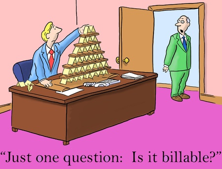firms: Just one question:  it is billable from boss Stock Photo