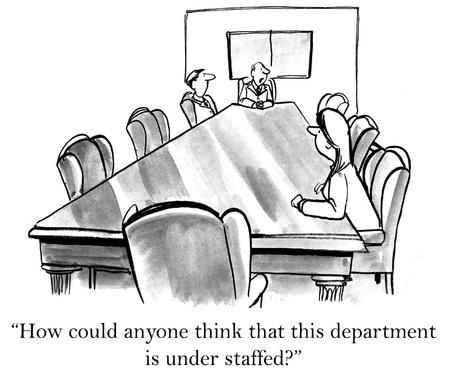 medico caricatura: �C�mo puede alguien pensar que este departamento es bajo acordaron Foto de archivo