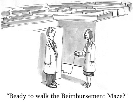 Ready to walk the reimbursement maze for doctors. photo
