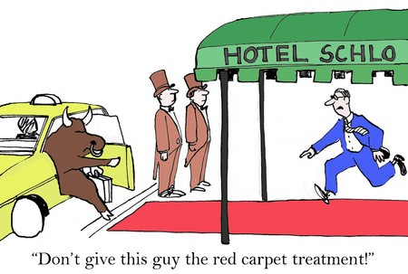 Dont give this guy the red carpet treatment! Stok Fotoğraf