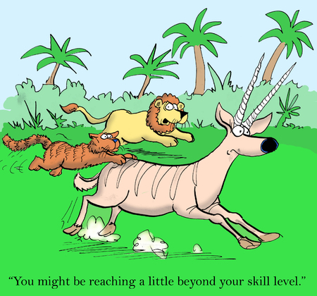 serengeti: You might be reaching a little beyond your skill level.