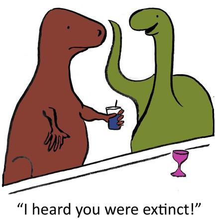 syndicated: Man, I heard you were extinct!