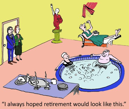 'I have always hoped retirement would look like this.' photo