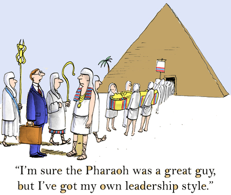 Im sure the Pharaoh was a great guy, but Ive got my own leadership style. Zdjęcie Seryjne