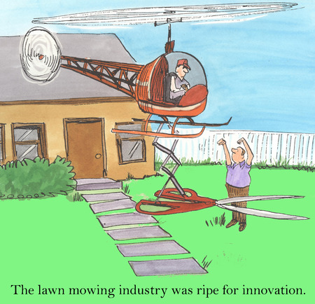 mowing the lawn: The lawn mowing industry was ripe for innovation