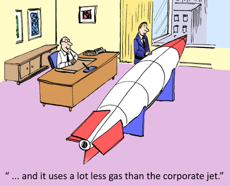 laid off:       and it uses a lot less gas than the corporate jet   Stock Photo